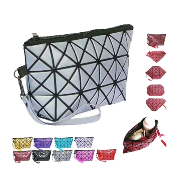 PVC Leather Cosmetic Makeup Wrist Bags